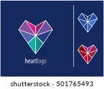 logo heart. charity. medicine.... | Shutterstock .eps vector #501765493