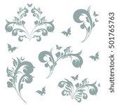 art deco swirls | Shutterstock .eps vector #501765763