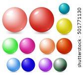 different spheres. materials... | Shutterstock .eps vector #501771130
