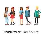 flat illustratuion set of... | Shutterstock .eps vector #501772879