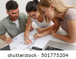 architects in office working on ... | Shutterstock . vector #501775204