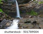 hardraw force waterfall in... | Shutterstock . vector #501789004