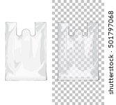 disposable t shirt plastic bags ... | Shutterstock .eps vector #501797068