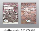 bicycle bike old style brick... | Shutterstock . vector #501797560