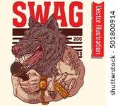 t shirt print. swag werewolf... | Shutterstock .eps vector #501800914