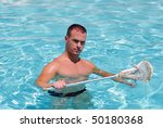 a muscular man in a swimming... | Shutterstock . vector #50180368