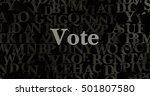 vote   3d rendered metallic... | Shutterstock . vector #501807580