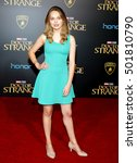 Small photo of Alyssa Jirrels at the World premiere of 'Doctor Strange' held at the El Capitan Theatre in Hollywood, USA on October 20, 2016.
