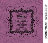attitude phrase inside frame... | Shutterstock .eps vector #501811819