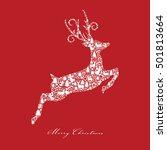 christmas card with jumping... | Shutterstock .eps vector #501813664