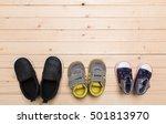 baby booties  for little boy | Shutterstock . vector #501813970