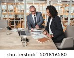 getting down to the report... | Shutterstock . vector #501816580