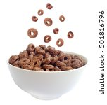 Chocolate Cereal Rings Falling...