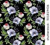 wildflower anemone flower...   Shutterstock . vector #501819436