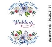 wildflower anemone flower frame ... | Shutterstock . vector #501819484
