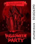 halloween party. fancy red... | Shutterstock .eps vector #501826390
