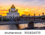 Sunset View Of Moscow Cathedral ...