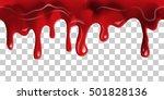 dripping seamless blood. flow... | Shutterstock .eps vector #501828136