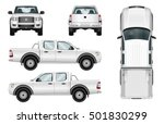 Pickup Truck Vector Template...