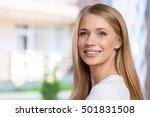 beautiful woman smiling   Shutterstock . vector #501831508