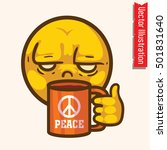 i hate morning. funny face  ... | Shutterstock .eps vector #501831640