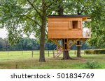 Wooden Tree House With Window   ...
