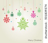 christmas baubles and... | Shutterstock .eps vector #501839374