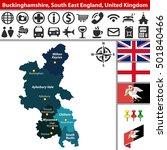 Vector Map Of Buckinghamshire ...