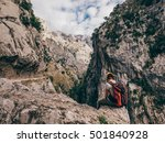 gilr hikes cares trail in... | Shutterstock . vector #501840928