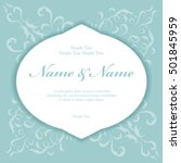 wedding invitation cards with... | Shutterstock .eps vector #501845959
