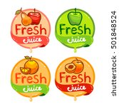 colorful fresh juice emblems... | Shutterstock .eps vector #501848524