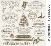 christmas hand drawing frames | Shutterstock .eps vector #501853120