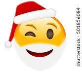 happy winky smile emoticon for... | Shutterstock .eps vector #501856084