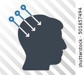 smooth blue neural interface... | Shutterstock .eps vector #501857494