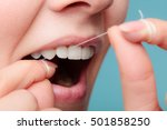 oral hygiene and health care.... | Shutterstock . vector #501858250