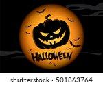 halloween holiday. vector... | Shutterstock .eps vector #501863764