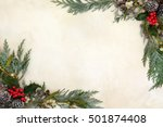 winter and christmas background ... | Shutterstock . vector #501874408