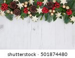 christmas background abstract... | Shutterstock . vector #501874480