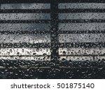 water drop on glass mirror... | Shutterstock . vector #501875140