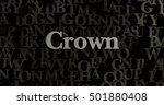 crown   3d rendered metallic... | Shutterstock . vector #501880408