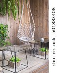 the beautiful swing from rope ... | Shutterstock . vector #501883408