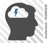 cobalt and gray brainstorming... | Shutterstock .eps vector #501883630