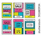 flat design sale website... | Shutterstock .eps vector #501885934
