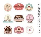 cake logo set | Shutterstock .eps vector #501888610