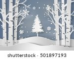 snowflakes and christmas tree... | Shutterstock .eps vector #501897193
