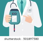 diabetes day concept. close up... | Shutterstock .eps vector #501897580