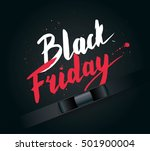 black friday sale  banner with... | Shutterstock .eps vector #501900004