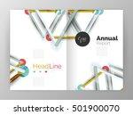 molecule annual report. vector...   Shutterstock .eps vector #501900070