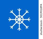 snowflake icon  flat style ...