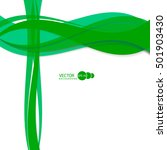 vector abstract green waves and ... | Shutterstock .eps vector #501903430